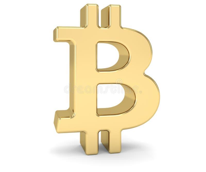 Sinal dourado de Bitcoin imagem de stock royalty free