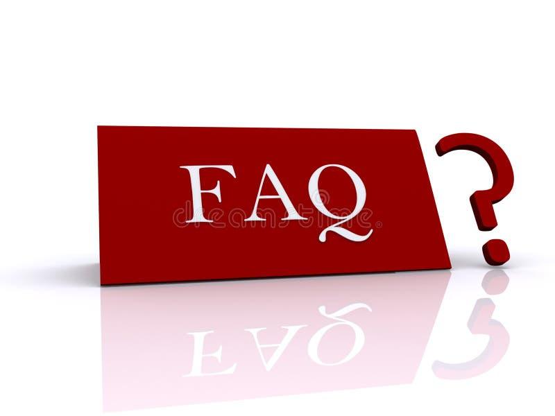 Sinal e ponto de interrogação do FAQ ilustração royalty free