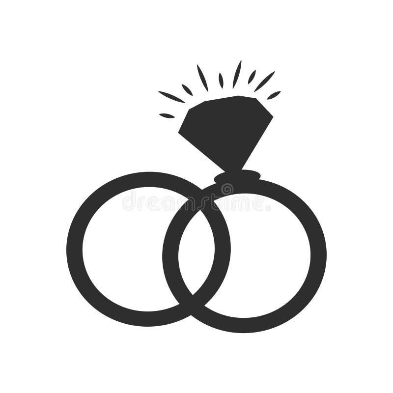 Sinal e símbolo de bloqueio do vetor do ícone dos anéis isolados no fundo branco, conceito de bloqueio do logotipo dos anéis ilustração do vetor