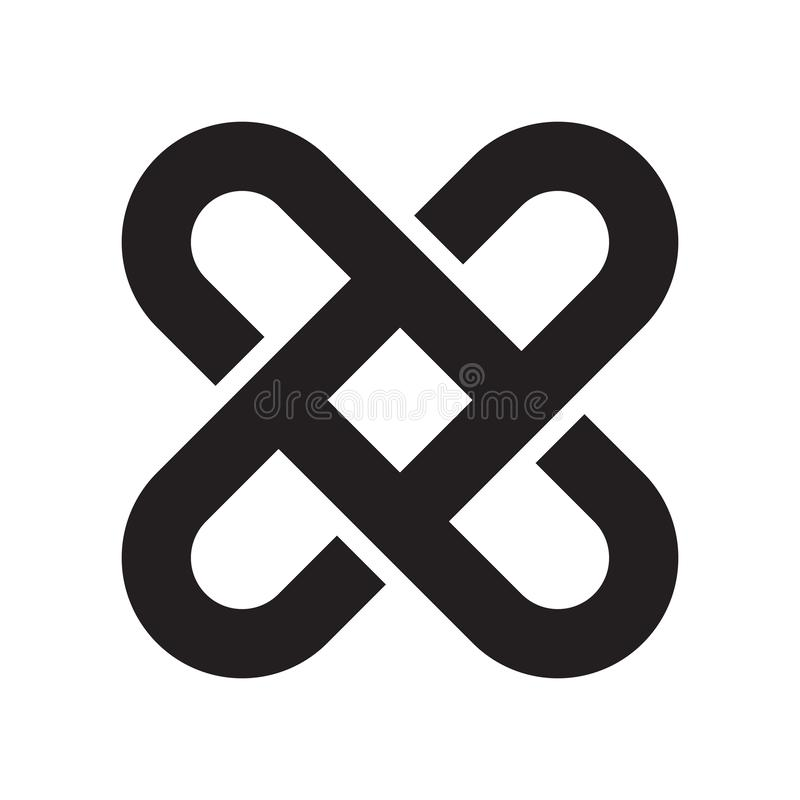 Sinal e símbolo de bloqueio do vetor do ícone isolados no backg branco ilustração do vetor