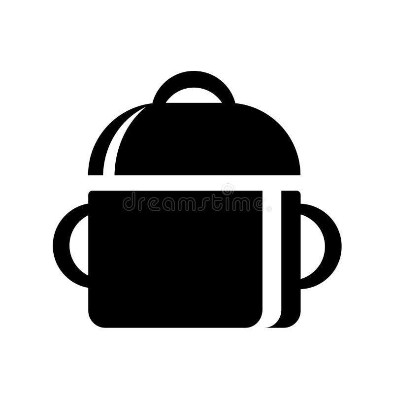 Sinal e símbolo de medição do vetor do ícone dos utensílios isolados no fundo branco, conceito de medição do logotipo dos utensíl ilustração do vetor