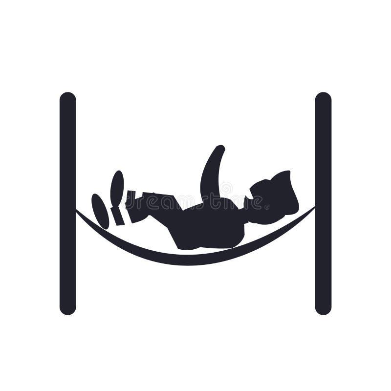 sinal e símbolo de relaxamento do vetor do ícone da rede isolados no fundo branco, conceito de relaxamento do logotipo da rede ilustração do vetor