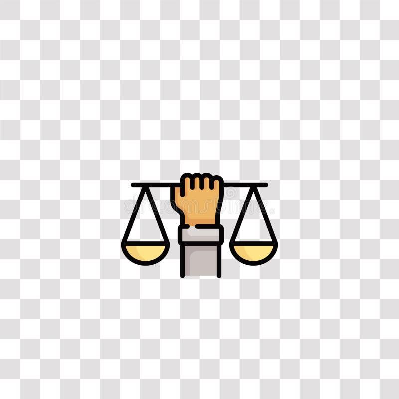 sinal e símbolo do ícone de saldo ícone de cor de equilíbrio para design de site e desenvolvimento de aplicativo móvel Elemento S ilustração royalty free
