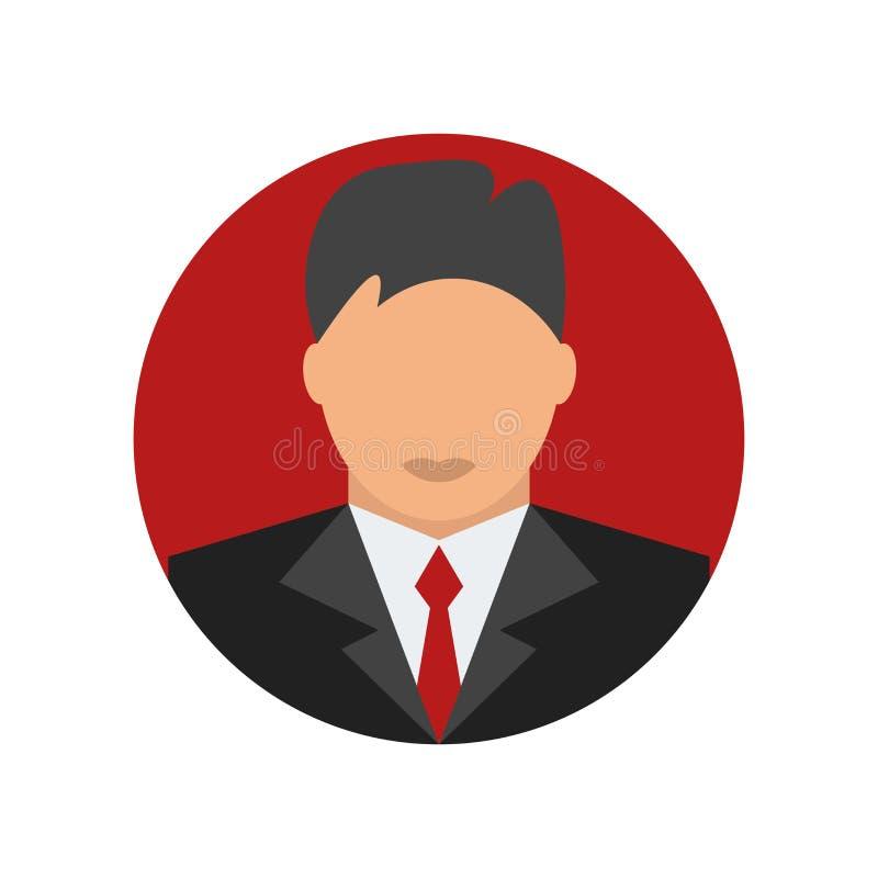 Sinal e símbolo do vetor do ícone do advogado isolados no fundo branco, conceito do logotipo do advogado ilustração royalty free