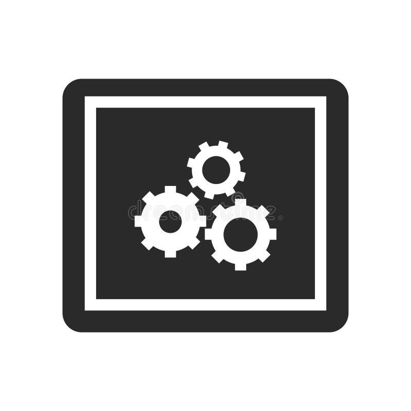 Sinal e símbolo do vetor do ícone do App isolados no fundo branco, conceito do logotipo do App ilustração royalty free