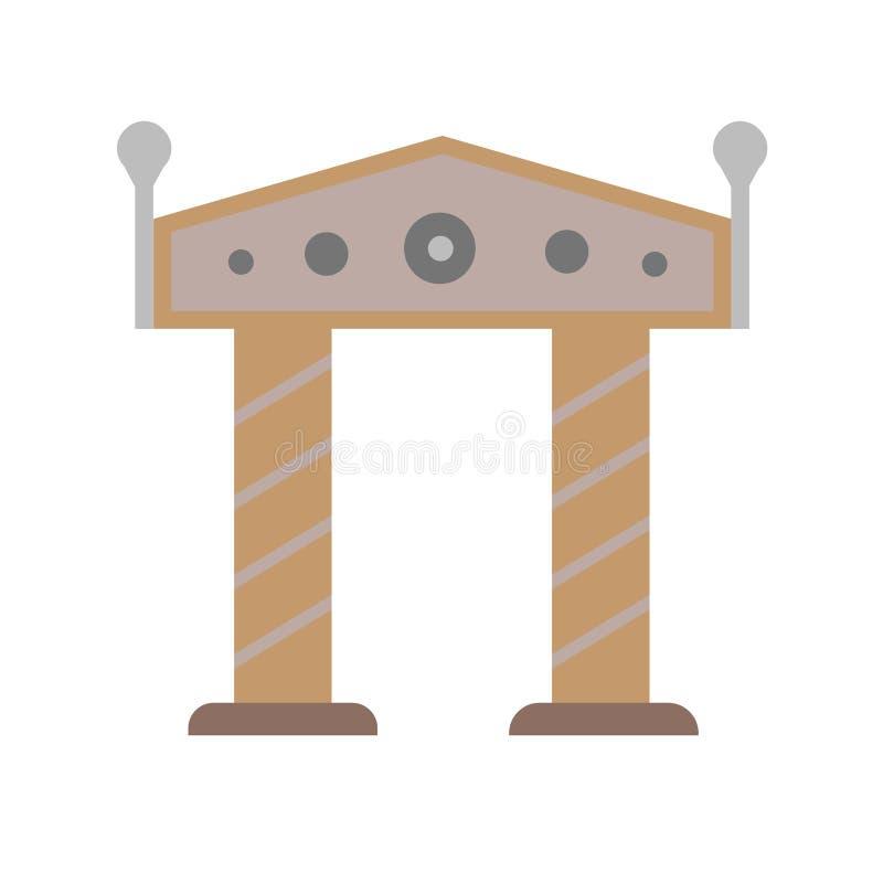 Sinal e símbolo do vetor do ícone do arco isolados no fundo branco, conceito do logotipo do arco ilustração do vetor