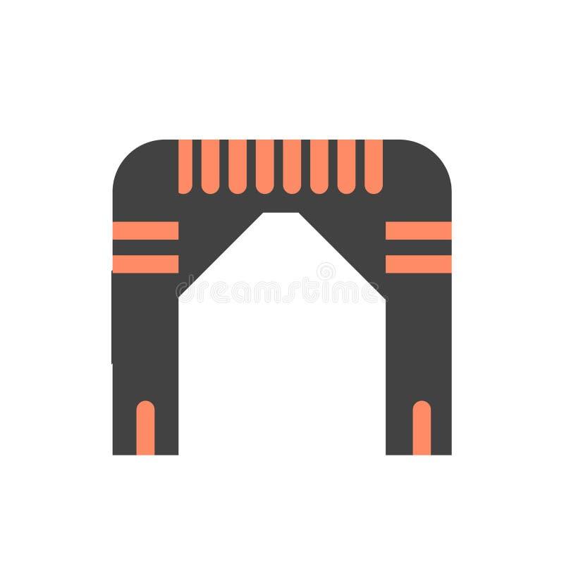 Sinal e símbolo do vetor do ícone do arco isolados no fundo branco, conceito do logotipo do arco ilustração royalty free