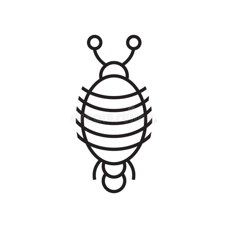 Sinal e símbolo do vetor do ícone do artrópode isolados no backgrou branco ilustração royalty free