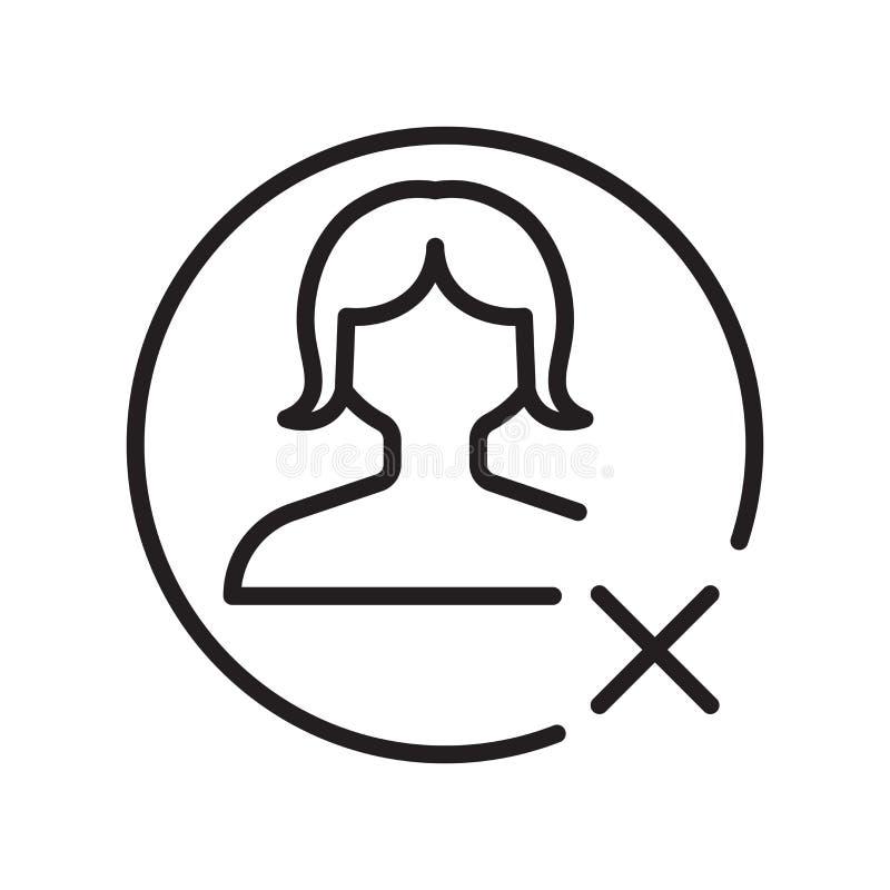 Sinal e símbolo do vetor do ícone do Avatar isolados no fundo branco, conceito do logotipo do Avatar, símbolo do esboço, sinal li ilustração do vetor