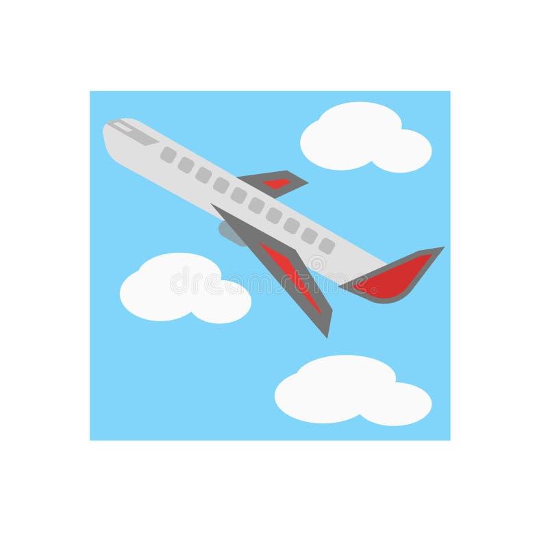 Sinal e símbolo do vetor do ícone do avião isolados no fundo branco, conceito do logotipo do avião ilustração do vetor