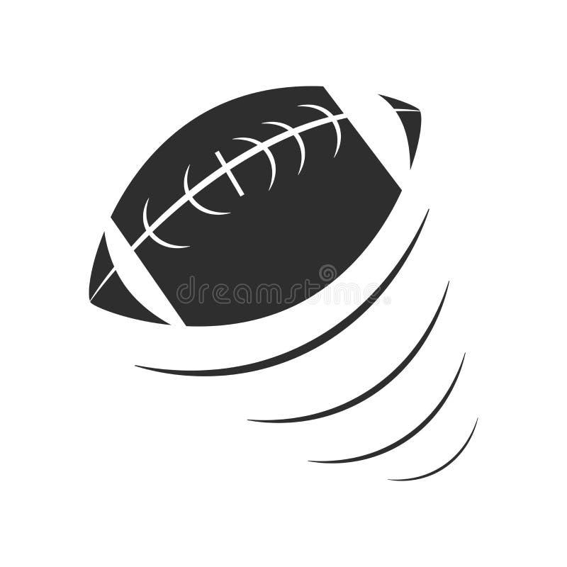 Sinal e símbolo do vetor do ícone do balão do futebol isolados no fundo branco, conceito do logotipo do balão do futebol ilustração stock