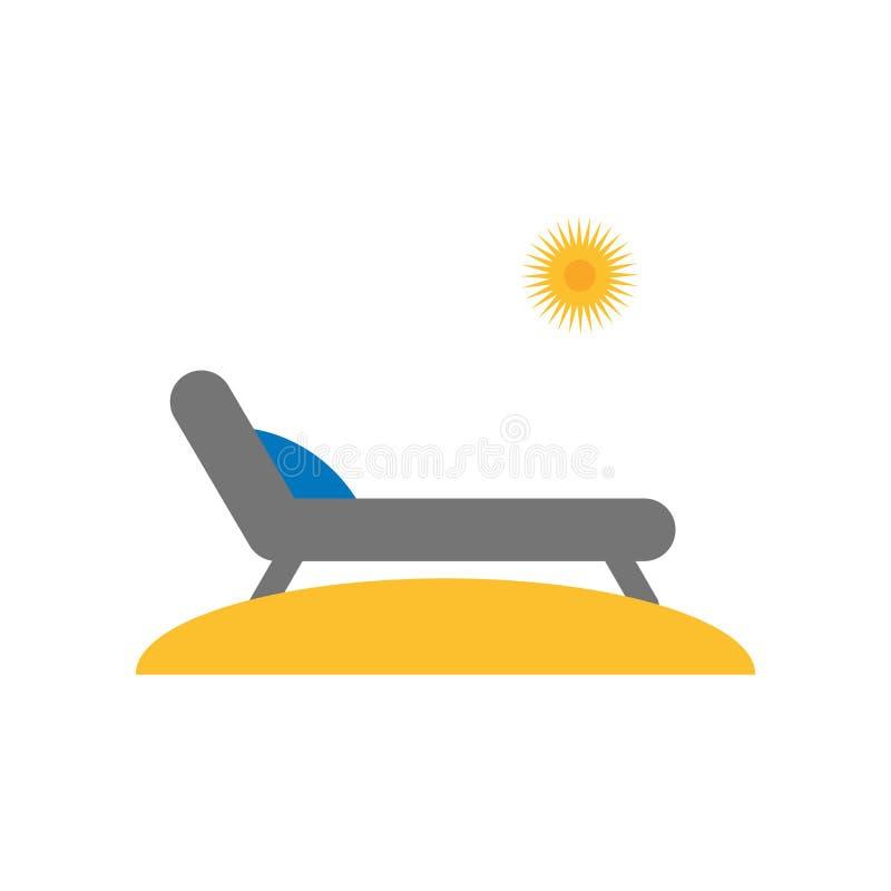 Sinal e símbolo do vetor do ícone do banho de Sun isolados no backgroun branco ilustração stock
