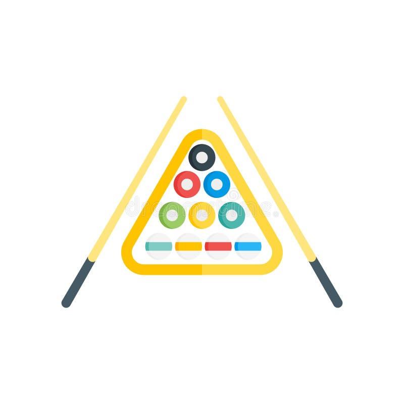 Sinal e símbolo do vetor do ícone do bilhar isolados no backgroun branco ilustração do vetor