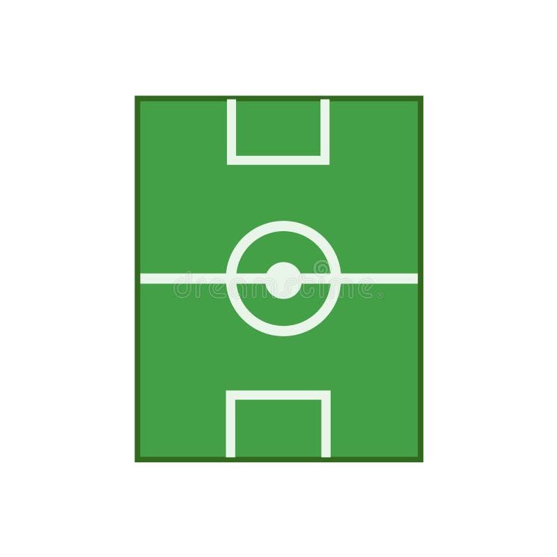 Sinal e símbolo do vetor do ícone do campo de futebol isolados no fundo branco, conceito do logotipo do campo de futebol ilustração stock