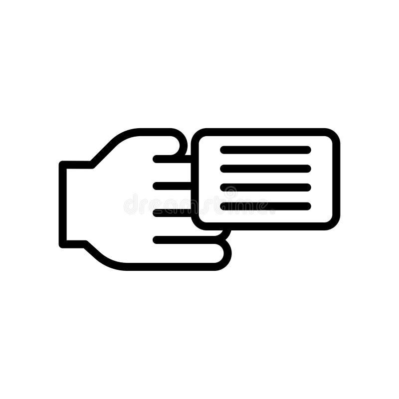 Sinal e símbolo do vetor do ícone do cartão de crédito isolados no backgr branco ilustração stock