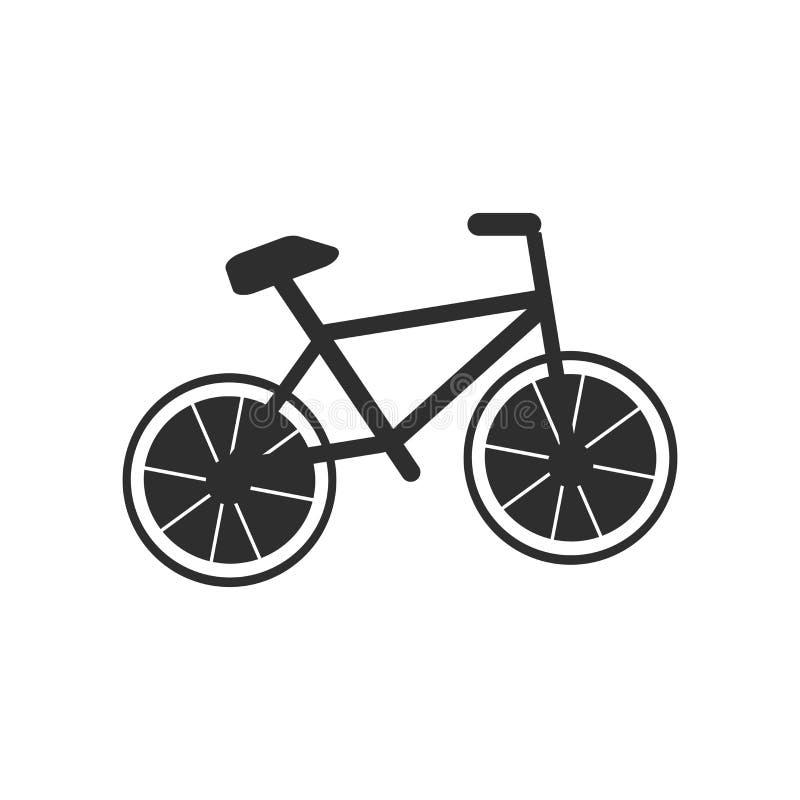 Sinal e símbolo do vetor do ícone do ciclista isolados no fundo branco, conceito do logotipo do ciclista ilustração stock