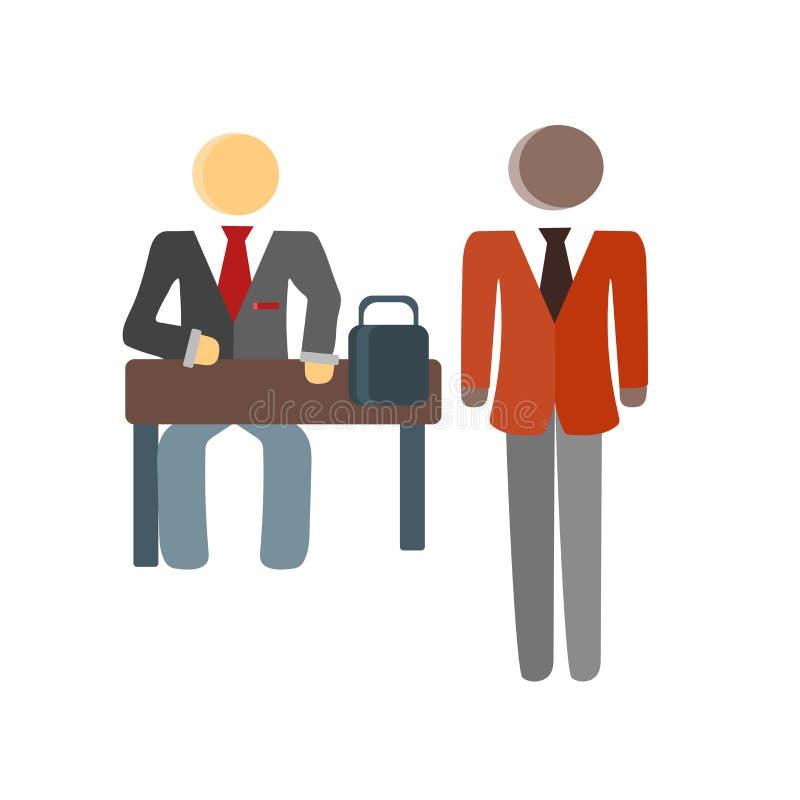 Sinal e símbolo do vetor do ícone do cliente isolados no fundo branco, conceito do logotipo do cliente ilustração royalty free