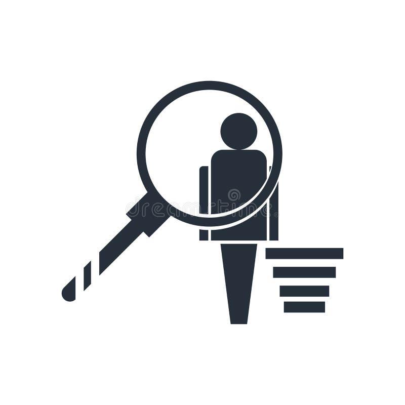 Sinal e símbolo do vetor do ícone do comportamento do usuário isolados no fundo branco, conceito do logotipo do comportamento do  ilustração stock