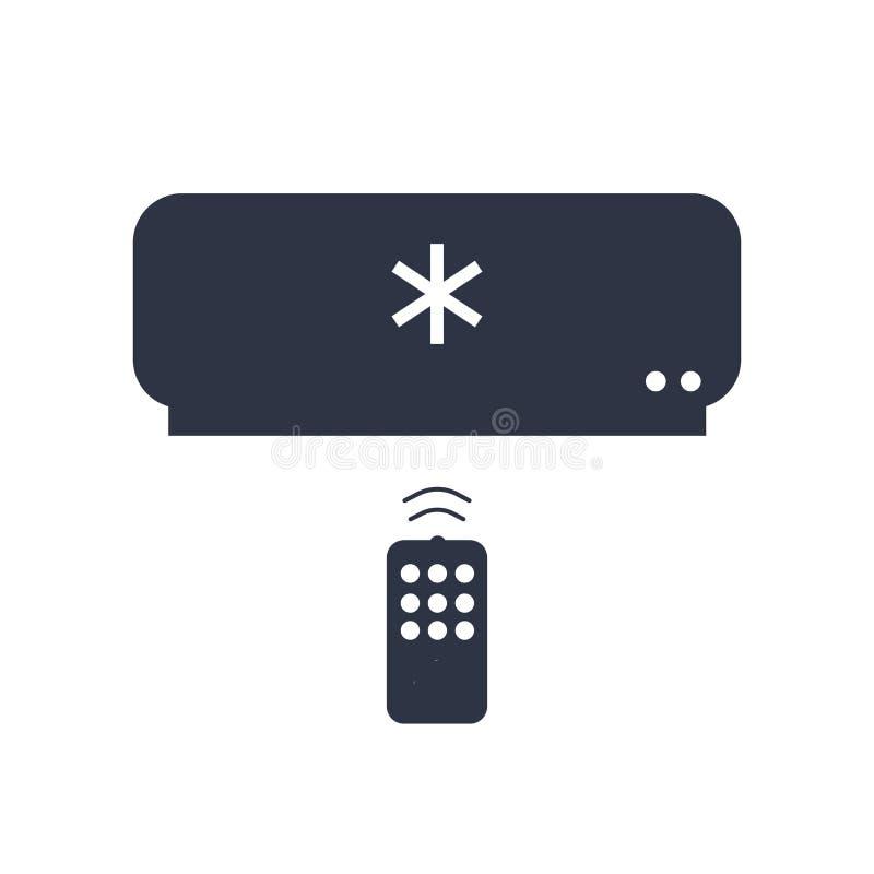 Sinal e símbolo do vetor do ícone do condicionador de ar isolados no fundo branco, conceito do logotipo do condicionador de ar ilustração royalty free