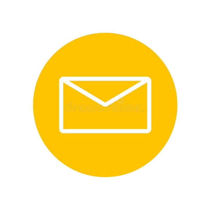 Sinal e símbolo do vetor do ícone do correio isolados no fundo branco, conceito do logotipo do correio ilustração royalty free