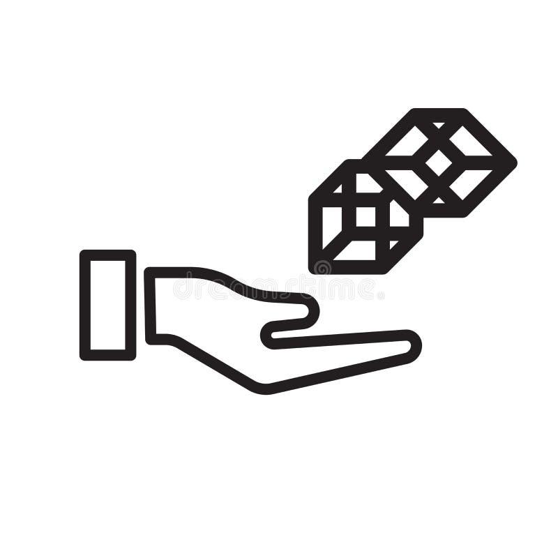 sinal e símbolo do vetor do ícone do cubo 3d isolados no fundo branco ilustração royalty free