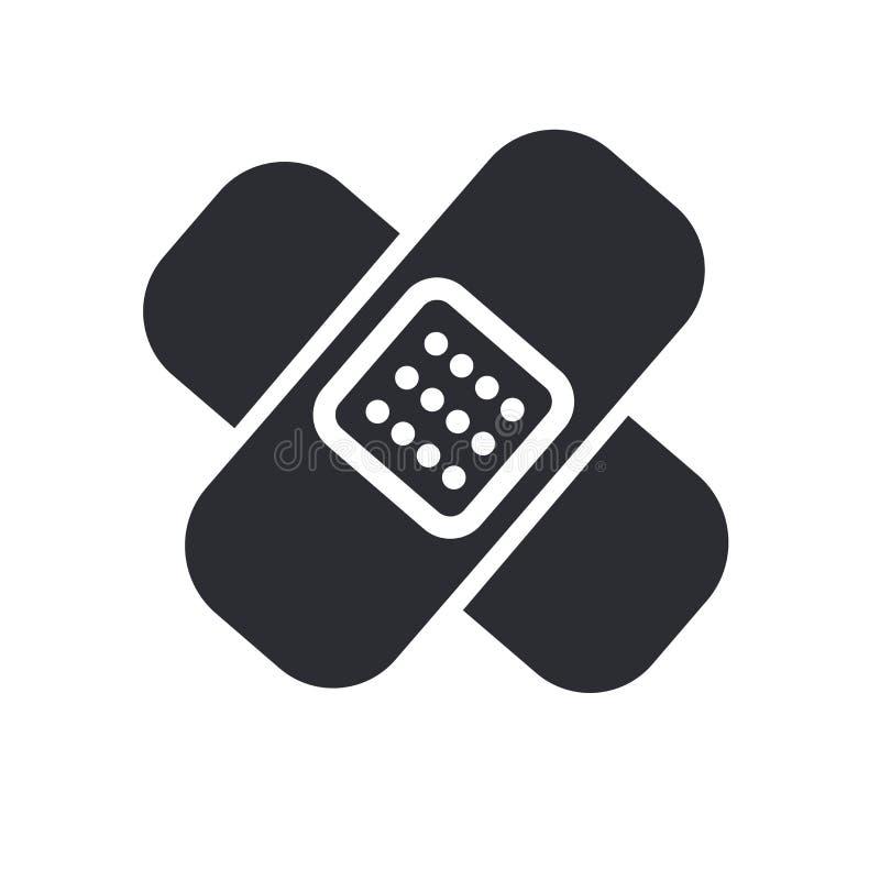 Sinal e símbolo do vetor do ícone do curativo isolados no fundo branco, conceito do logotipo do curativo ilustração do vetor