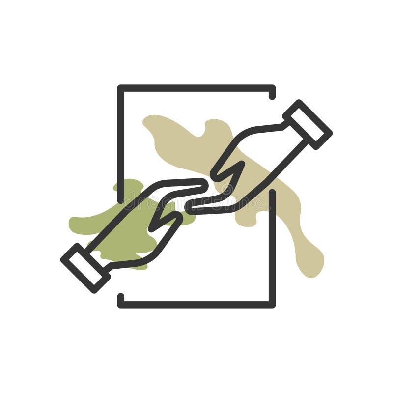 Sinal e símbolo do vetor do ícone da ajuda isolados no fundo branco, conceito do logotipo da ajuda ilustração stock