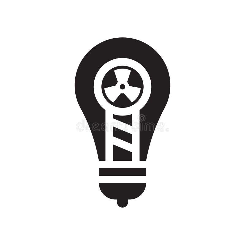 Sinal e símbolo do vetor do ícone da ampola isolados no backgro branco ilustração do vetor