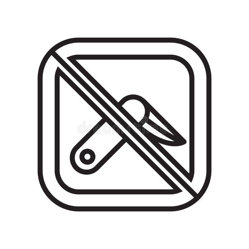 Sinal e símbolo do vetor do ícone da arma isolados no fundo branco, conceito do logotipo da arma ilustração royalty free
