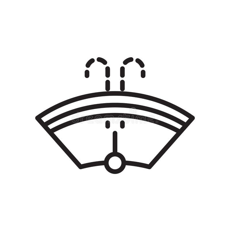 Sinal e símbolo do vetor do ícone da arruela do para-brisa isolados no fundo branco, conceito do logotipo da arruela do para-bris ilustração do vetor
