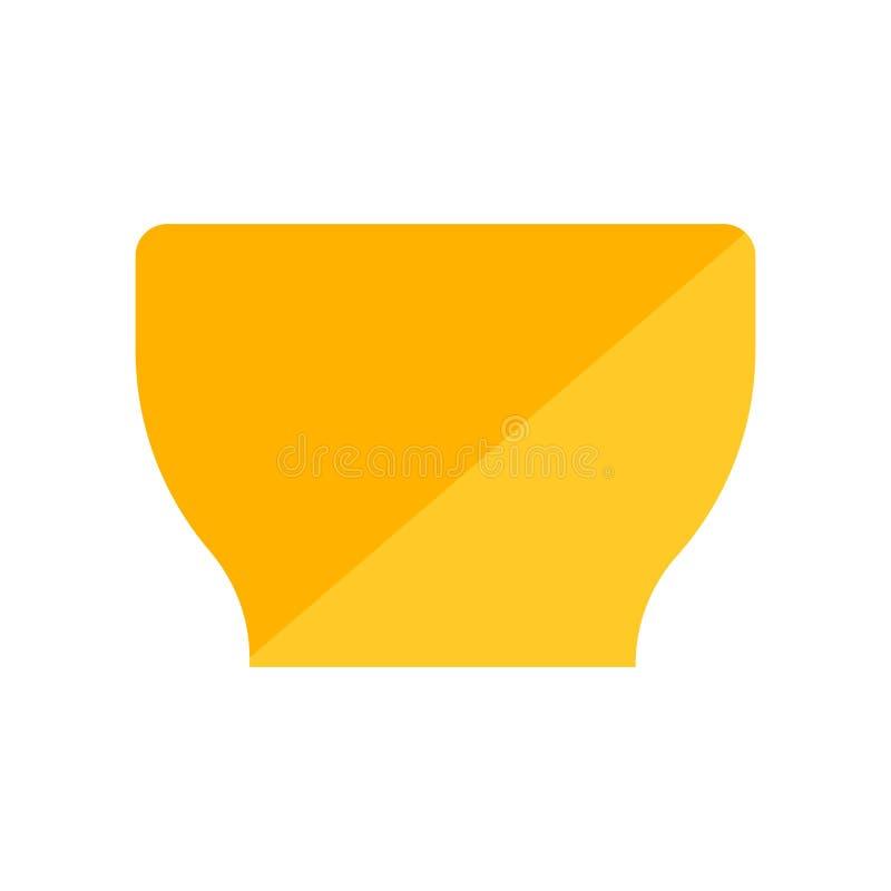 Sinal e símbolo do vetor do ícone da bacia isolados no fundo branco, conceito do logotipo da bacia ilustração stock