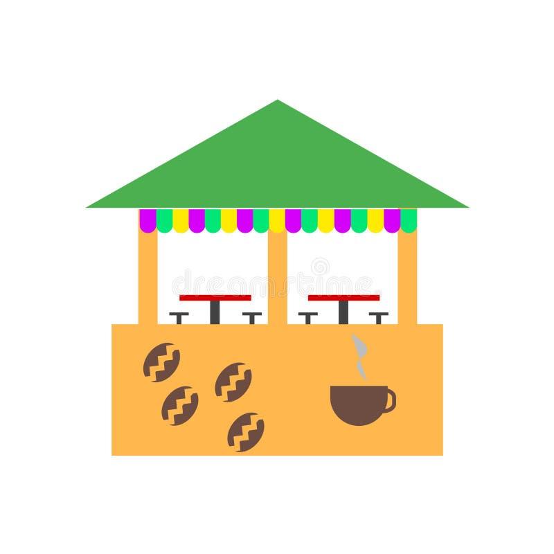 Sinal e símbolo do vetor do ícone da cafetaria isolados no fundo branco, conceito do logotipo da cafetaria ilustração do vetor