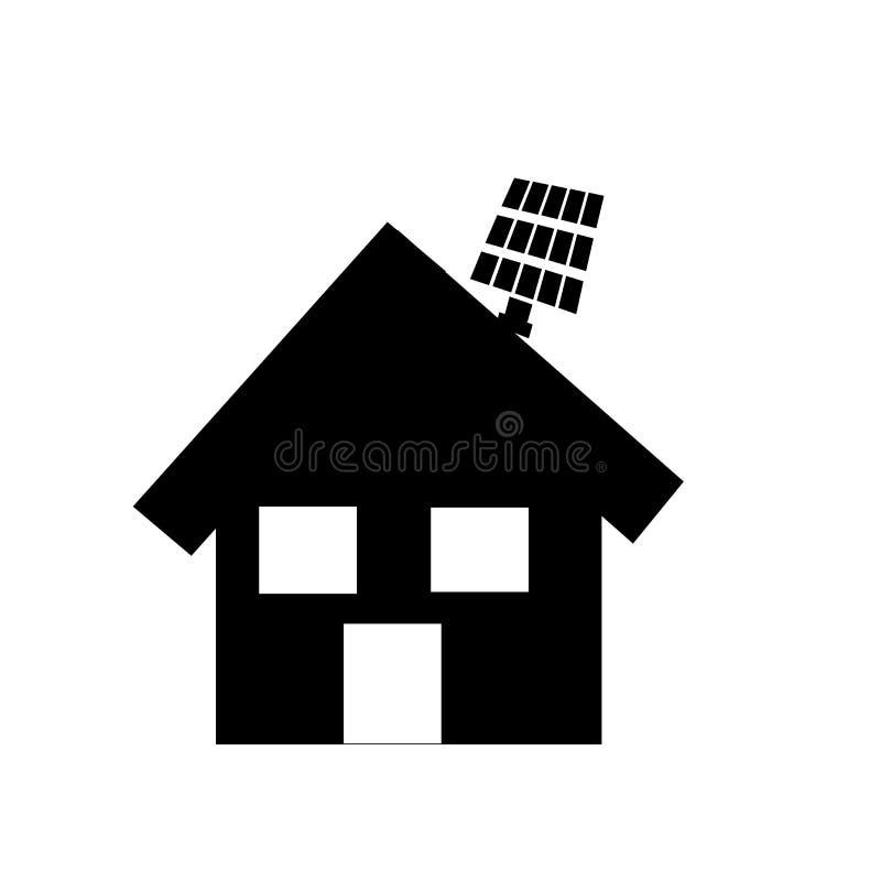 Sinal e símbolo do vetor do ícone da casa de Eco isolados no fundo branco, conceito do logotipo da casa de Eco ilustração do vetor
