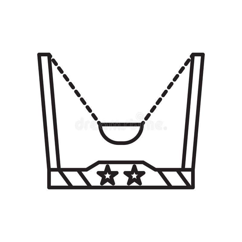 Sinal e símbolo do vetor do ícone da catapulta isolados no fundo branco, conceito do logotipo da catapulta ilustração royalty free