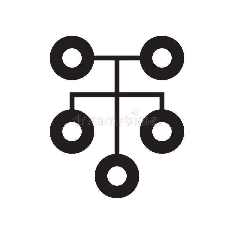 Sinal e símbolo do vetor do ícone da conexão dos trabalhos em rede isolados no fundo branco, conceito do logotipo da conexão dos  ilustração stock