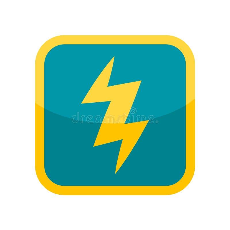 Sinal e símbolo do vetor do ícone da eletricidade isolados no backgr branco ilustração stock