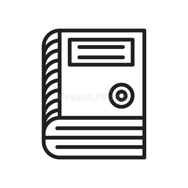 Sinal e símbolo do vetor do ícone da enciclopédia isolados no backg branco ilustração do vetor