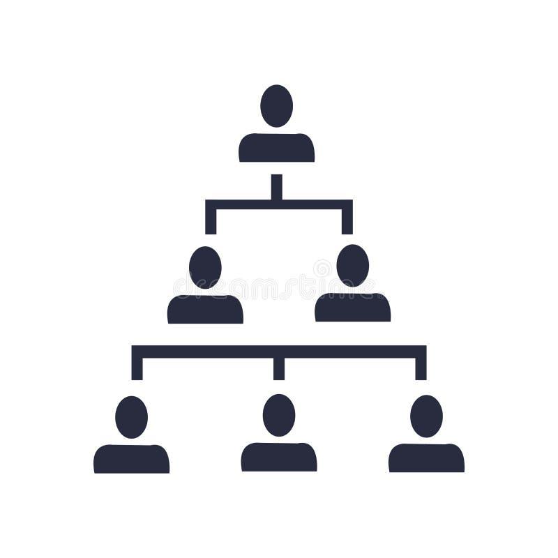Sinal e símbolo do vetor do ícone da estrutura hierárquica isolados no fundo branco, conceito do logotipo da estrutura hierárquic ilustração royalty free