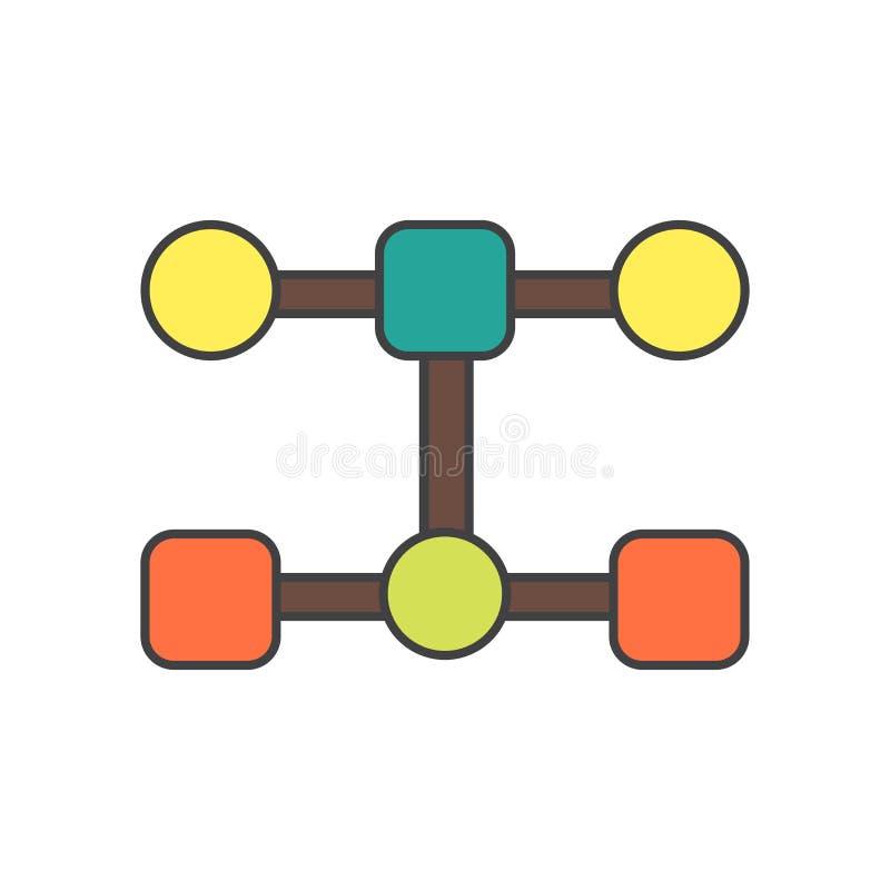 Sinal e símbolo do vetor do ícone da estrutura isolados no fundo branco, conceito do logotipo da estrutura ilustração stock