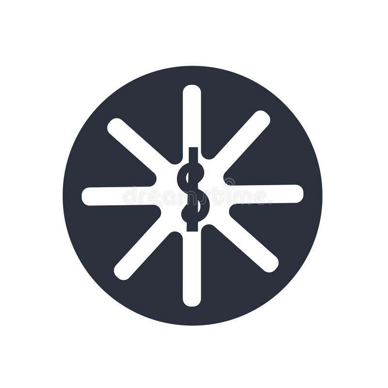 Sinal e símbolo do vetor do ícone do símbolo da farmácia isolados no fundo branco, conceito do logotipo do símbolo da farmácia ilustração stock