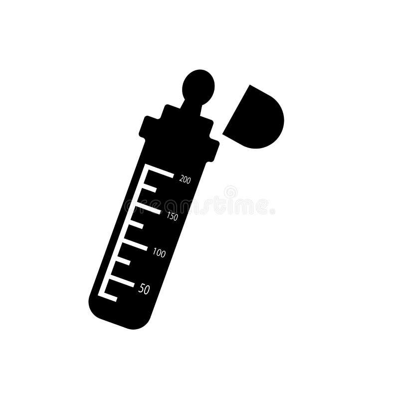 Sinal e símbolo do vetor do ícone da garrafa de bebê isolados no fundo branco, conceito do logotipo da garrafa de bebê ilustração stock