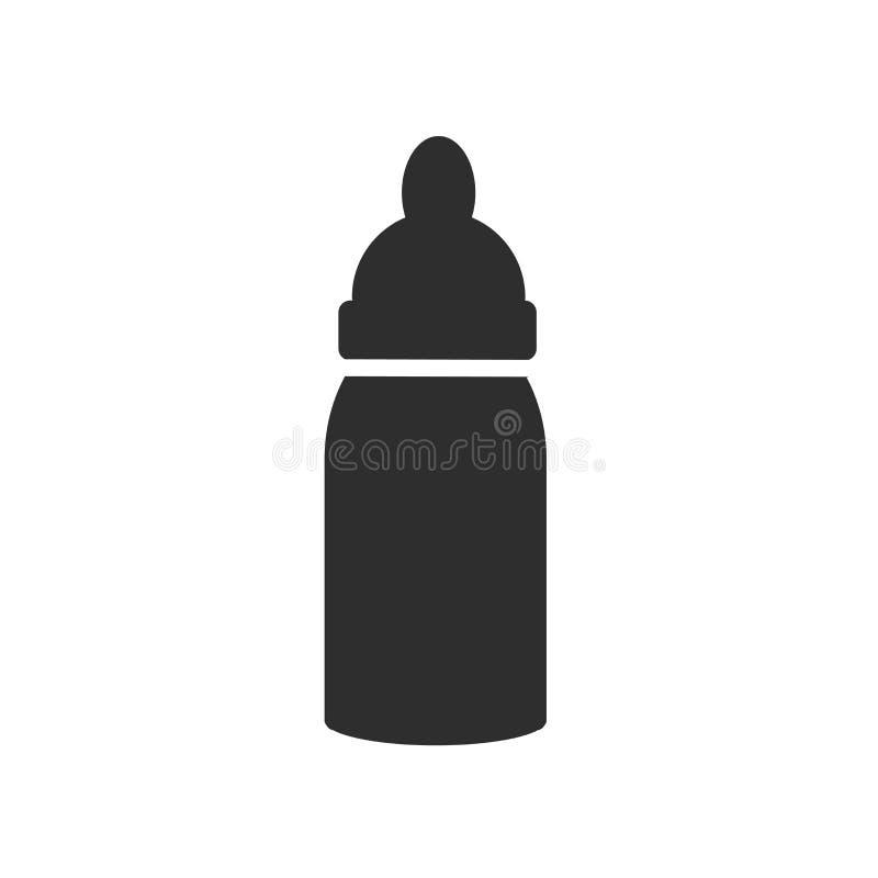 Sinal e símbolo do vetor do ícone da garrafa de bebê isolados no fundo branco, conceito do logotipo da garrafa de bebê ilustração royalty free