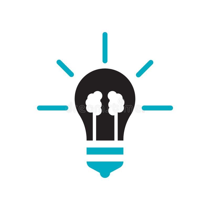 Sinal e símbolo do vetor do ícone da ideia isolados no fundo branco, conceito do logotipo da ideia ilustração stock