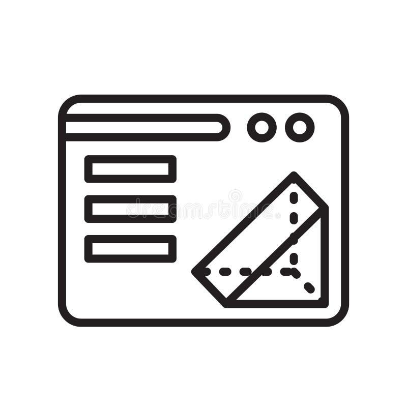sinal e símbolo do vetor do ícone da impressão 3d isolados no backgr branco ilustração stock