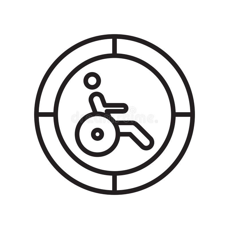 Sinal e símbolo do vetor do ícone da inabilidade isolados no fundo branco, conceito do logotipo da inabilidade ilustração royalty free