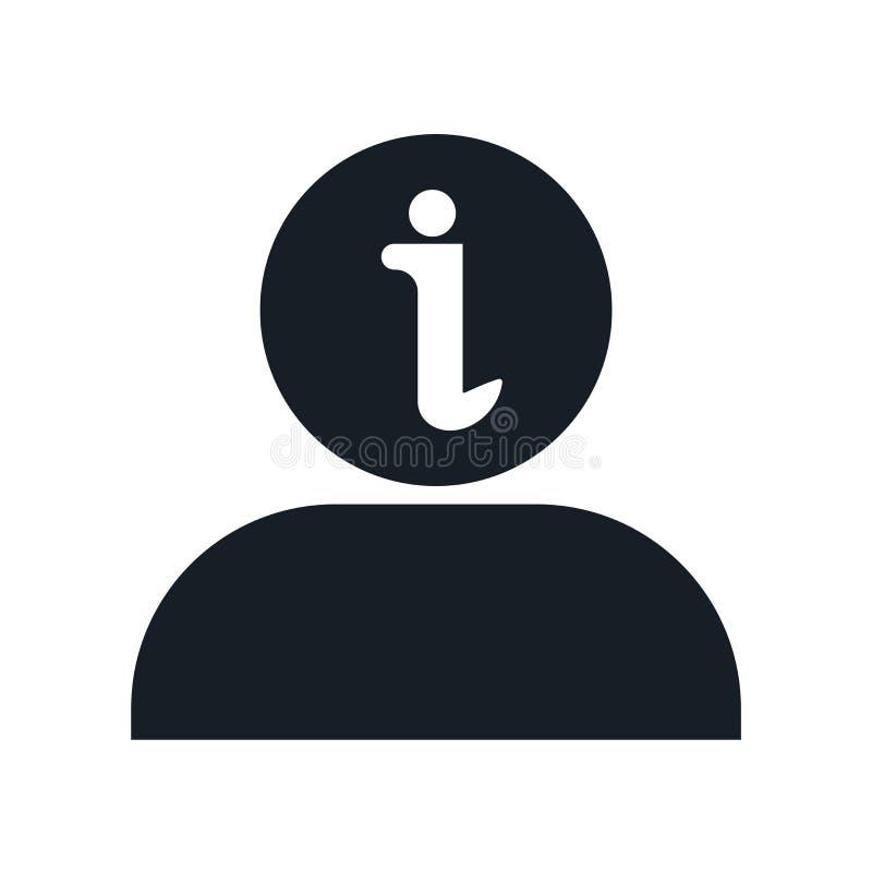 Sinal e símbolo do vetor do ícone da informação isolados no fundo branco, conceito do logotipo da informação ilustração royalty free
