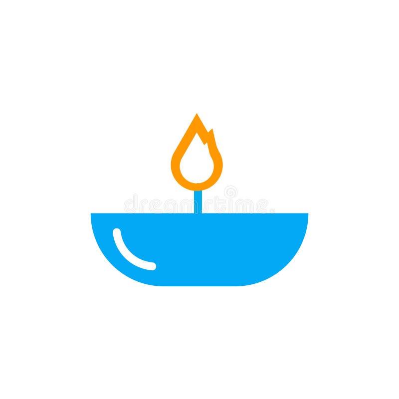 Sinal e símbolo do vetor do ícone da lâmpada de óleo isolados no fundo branco ilustração do vetor
