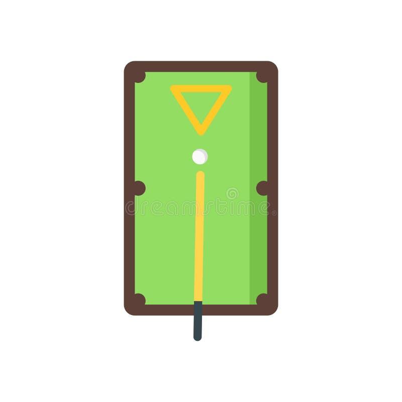 Sinal e símbolo do vetor do ícone da mesa de bilhar isolados no backgro branco ilustração do vetor
