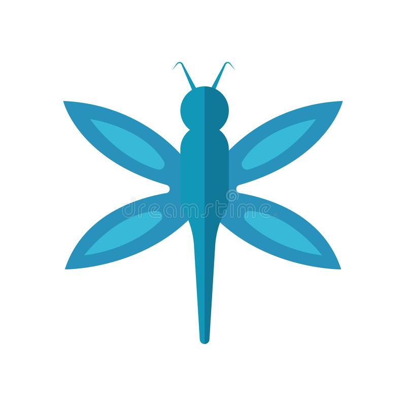 Sinal e símbolo do vetor do ícone da mosca do dragão isolados no backgro branco ilustração royalty free