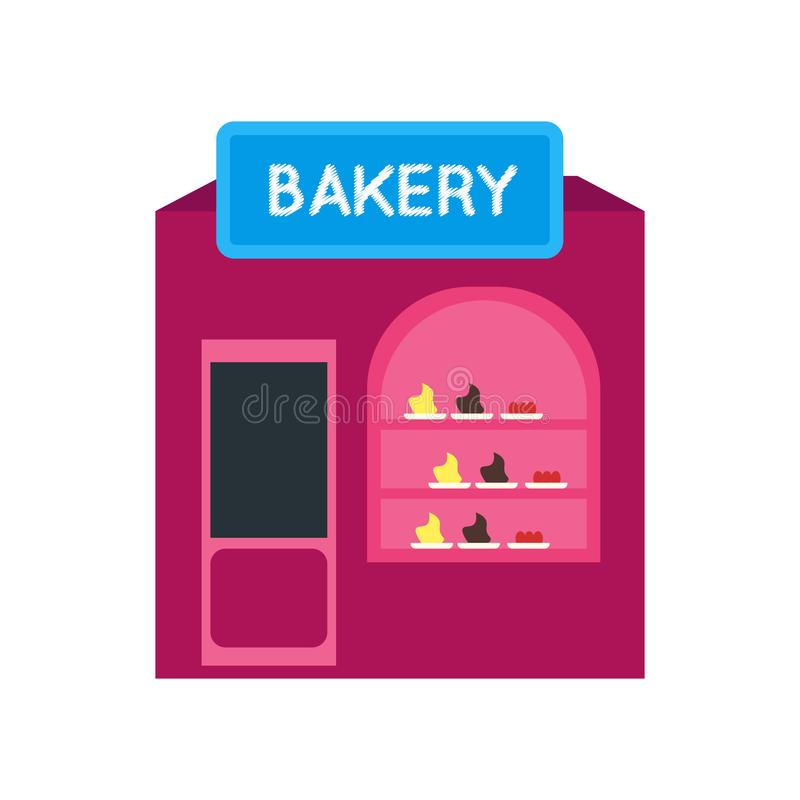 Sinal e símbolo do vetor do ícone da padaria isolados no fundo branco, conceito do logotipo da padaria ilustração stock